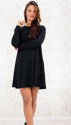 Μίνι φόρεμα με άνοιγμα δάκρυ | Χειμερινή Collection 2016 | Potre - 24.9 Collection, Black, Dresses, Fashion, Vestidos, Moda, Black People, Fashion Styles, Dress