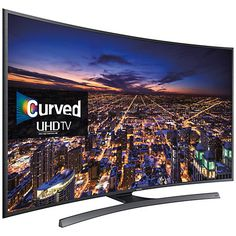 """Buy Samsung UE40JU6500 Curved 4K Ultra HD Smart TV, 40"""" with Freeview HD, Built-In Wi-Fi and Intelligent Navigation Online at johnlewis.com"""
