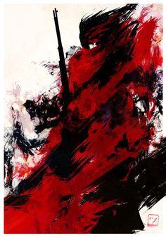 Vincent Valentine. Fan art. Final Fantasy VII.