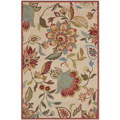 Carvalho Ivory/Rust Outdoor Area Rug