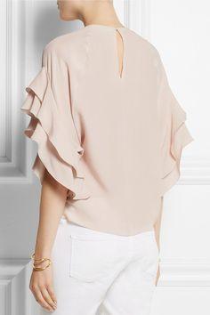 Blush silk-crepe Button-fastening keyhole at back 100% silk Dry clean Designer color: Soft Pink