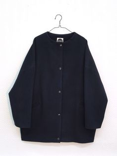 This women's loose fit jacket is made out cashmere. Outer fabric is tightly woven, soft, and warm. Cashmere has approximately three times more insulation Cashmere Jacket, Streetwear Fashion, Sustainable Fashion, My Design, Dark Blue, Street Wear, Wool, Fabric, Sweaters