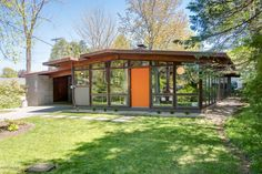 Midcentury home with walls of glass asks just $159K - Curbedclockmenumore-arrow : The 1958 home is located in a suburb of Grand Rapids, Michigan