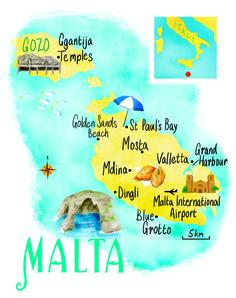 Malta map by Scott Jessop. March 2015 issue