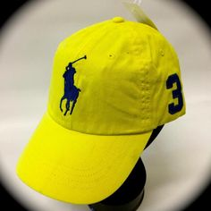 Polo Ralph Lauren 1967 MCMLXVII #3 Big Pony BASEBALL Cap OPTIC YELLOW -GOLF CAP #POLORALPHLAUREN #BASEBALLGOLFCAP
