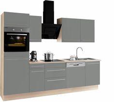 OPTIFIT Küchenzeile mit E-Geräten grau, »Bern«, mit Schubkästen Jetzt bestellen unter: https://moebel.ladendirekt.de/kueche-und-esszimmer/kuechen/kuechenzeilen/?uid=b631ff1b-46d8-5775-bbb0-18c9f32efca6&utm_source=pinterest&utm_medium=pin&utm_campaign=boards #kueche #kuechen #kuechenzeilen #esszimmer