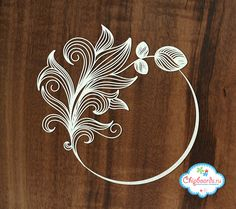 """Laser Cut Chipboard """"Frame """"Magic"""" by SiberianDIYcraftsArt on Etsy Origami And Quilling, Quilling Paper Craft, Quilling Cards, Paper Crafts, Quilling Ideas, Paper Box Template, Glass Engraving, Butterfly Template, Paper Lace"""