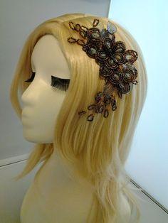 78.00$  Buy here - http://vimfb.justgood.pw/vig/item.php?t=laz5p010620 - A003 Handmade wire wrapped crystal bridal headpiece Wedding headpieces headband