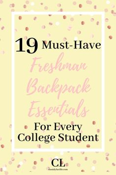 College school supplies every freshman needs to have. These are my highest recommended school supplies, guaranteed to be excellent!