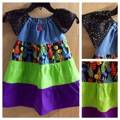 Fun Cats Peasant Dress, girls size 4t by SewMeems on Etsy