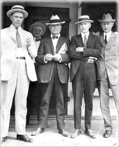 Men's Fashion: The suit as we know it today was created in the 1920's. It was a more conservative look. The suits were often custom made by tailors.