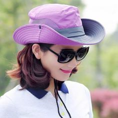 987546ed0d9 UV protection fishing bucket hat for women summer sun hats package