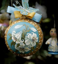 Christmas Ornament Hand Painted by LaivaArt on Etsy, $50.00 Christmas #ornament #hand #painted