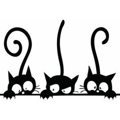 Silhouette Chat, Cute Cats, Funny Cats, Wall Stickers Home, Wall Decals, Wall Art, Vinyl Decals, Wall Mural, Kids Stickers