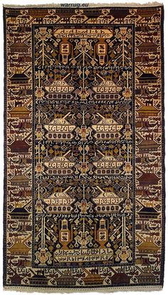 7,2 X 3,9 Ft Unique Genuine Old Nomadic Afghan Warrug Afghanistan  Kriegteppich