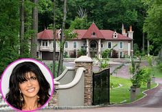 Teresa Giudice's 10,000 square-foot home sits on 3.77 acres of wooded property and has 16 rooms, a separate live-in guest suite, two ponds and a man-made waterfall.