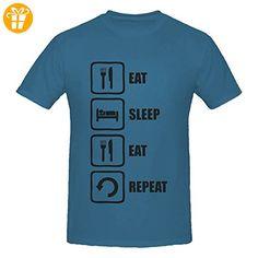 Eat Sleep Eat Repeat Black Graphic Men's T-Shirt XX-Large (*Partner-Link)