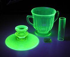 Vaseline and Uranium Glass (ca. 1930s)