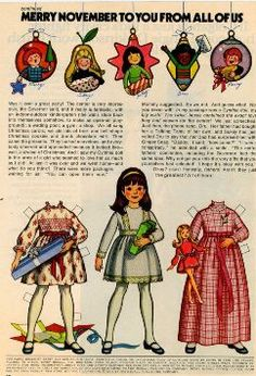 """Betsy McCall from McCall Magazines wishes a """"Merry November."""" Seems like it should be Merry Christmas. Books - Pg 2 - N-Z"""