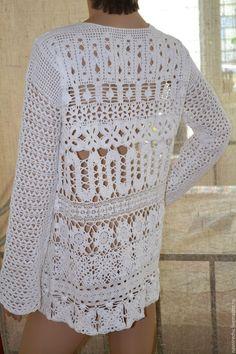 Купить или заказать Туника белая  ' Средиземноморье ждет' в интернет-магазине на…