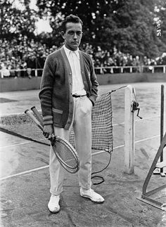 "Henri Jean Cochet (1901 – 1987) was a champion tennis player, one of the famous ""Four Musketeers"" from France who dominated tennis in the late 1920s & early 1930s. He was the World No. 1 player for three consecutive years, 1928 through 1930. Wimbledon: Singles champion: 1927, 1929, Singles runner-up: 1928, Men's Doubles champion: 1926, 1928, Men's Doubles runner-up: 1927, 1931"