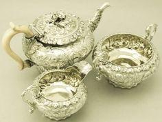 silver service set | ... silver composite three piece tea service / set; part of our siver