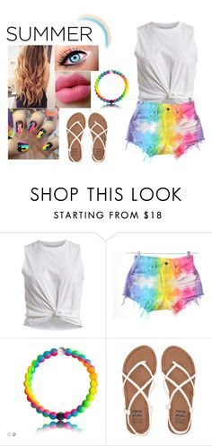 """""""Rainbow Summer Set <3"""" by sadiemay42 ❤ liked on Polyvore featuring VILA, Levi's and Billabong"""