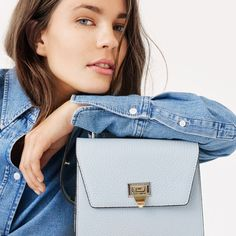 SS20 Lookbook Shirley cross-over, ice blue You Bag, Suede Leather, Going Out, Sporty, Ice, Bags, Style, Handbags, Swag