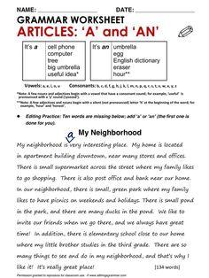 articles ell english grammar worksheets english grammar exercises grammar. Black Bedroom Furniture Sets. Home Design Ideas
