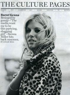 Sienna Miller / Leopard Coat