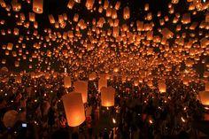 Lantern Yee Peng Festival - Thiland