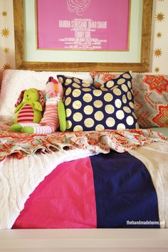diy striped bedding | the handmade home