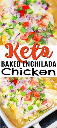 Try this easy low carb recipe, Baked Enchilada Chicken. Enjoy all the flavor of chicken enchilada bake without the carbs. Try baked enchilada chicken today! Chicken Enchilada Bake, Chicken Enchiladas, Enchilada Sauce, No Carb Recipes, Mexican Food Recipes, Cooking Recipes, Diabetic Recipes, Chicken Eating, Keto Chicken