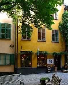Brända Tomten in Gamla Stan, the old town in central Stockholm, Sweden.