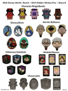 New Hidden Mickey Pins in July 2014! - Pixie Dust Savings