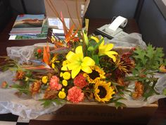 Beautiful centerpiece for our family Thanksgiving feast! Thanks Lees Florist!