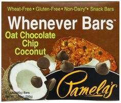 Pamela's Products Wheat Free & Gluten Free Whenever Bars Oat Choc Chip Coconut, 5 Count Box, 7.05-Ounce (Pack of 6) - http://goodvibeorganics.com/pamelas-products-wheat-free-gluten-free-whenever-bars-oat-choc-chip-coconut-5-count-box-7-05-ounce-pack-of-6/