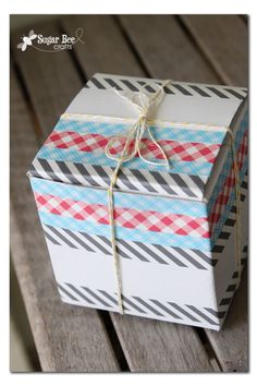 Washi Tape Gift wrapping / Envolturas washi tape packaging