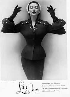 A beautifully structured Lilli Ann suit from 1952.