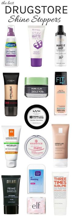 Oily skin? From oil-control primer and foundation to face wash and moisturizer, you need to check out these must-have mattifiers that will help keep unwanted shine in check for hours! These best drugstore oil control products don't just sop up grease—they prevent it from showing up in the first place. #Skinproducts