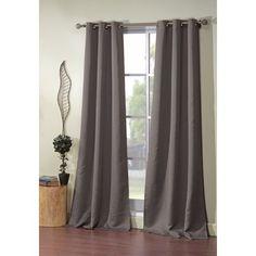 Loon Peak Morton Solid Blackout Grommet Curtain Panels Color: Dark Gray