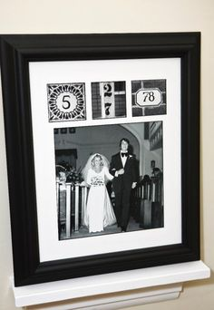 Valentine ideas: Wedding photos with date in photos