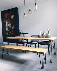 607 vind-ik-leuks, 44 reacties - AllonDery.nl   Haute Furniture (@allon_dery) op Instagram: 'Elke tafel is handgemaakt van kwalitatief hout en gerecycled staal. ⚒ Ook helemaal zelf je eigen…'