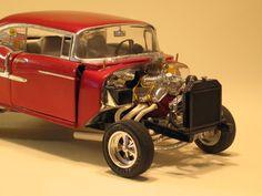"1955 Chevy ""Street Gasser"" - Under Glass - Chevrolet Trucks, Ford Trucks, 4x4 Trucks, Diesel Trucks, Chevrolet Impala, Lifted Trucks, 1955 Chevy, 1957 Chevrolet, Revell Model Kits"