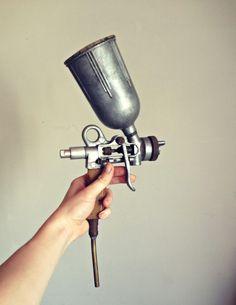Soviet Paint gun, Paint sprayer, Vintage paint gun, Metal Spray Gun, Car spray, Industrial device, Airbrush Painting, USSR tool, Soviet tool by TheGarageOffice on Etsy