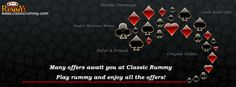 Many #offers awaits you at classicrummy...  #Play #rummy and enjoy all the offers!  https://www.classicrummy.com/13-Special-Rummy-Card-Games-Offers?link_name=CR-12