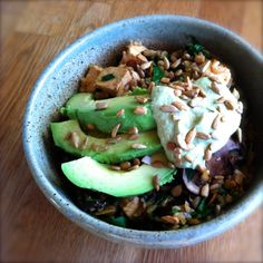 "New Recipe from Positively Vegan Brown Rice ""Scrambowl"" with Cashew Yogurt Sauce"