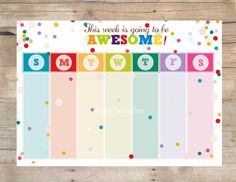 AWESOME Printable Weekly Planner / Weekly Organizer /Printable Organizer / To do list/ A4 and 8.5x11 size /Instant Download