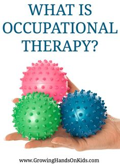 What is Occupational Therapy? And what do Occupational Therapists do? #OccupationalTherapy #OTMonth #OccupationalTherapist  via @growhandsonkids