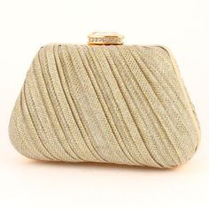 Glitter Evening Bag  Of Clear, Gold Color In [Categories] At Fancy4Less Store, F